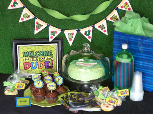 Free TMNT Party Printable Set
