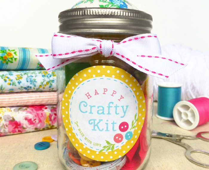 Free Craft Kit in a Jar Label