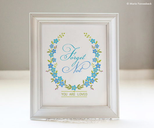 Free Printable Forget-me-not Home Decor