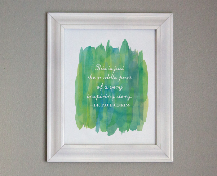 Free Printable Gift Art - Inspiring Quote