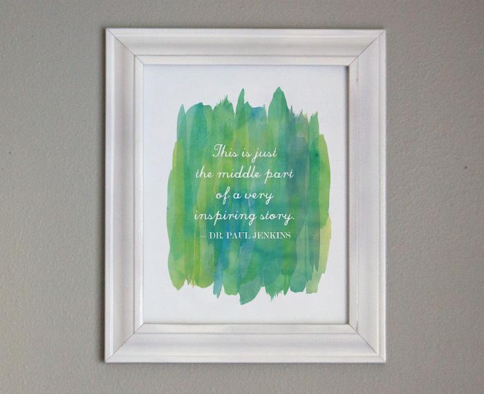 Free Printable Gift Art - Inspiring Quote